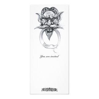 TAROT / ANTIQUE GROTESQUE FANTASY Black White Card
