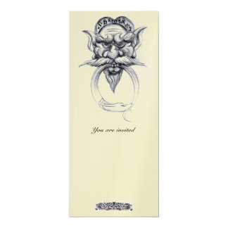 TAROT/ANTIQUE GROTESQUE FANTASY Black White Pearl Card