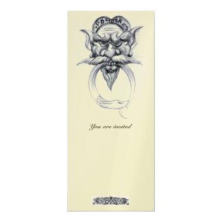 TAROT/ANTIQUE GROTESQUE FANTASY Black White Pearl Card