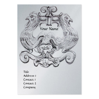 TAROT black white metallic platinum paper Business Card Templates