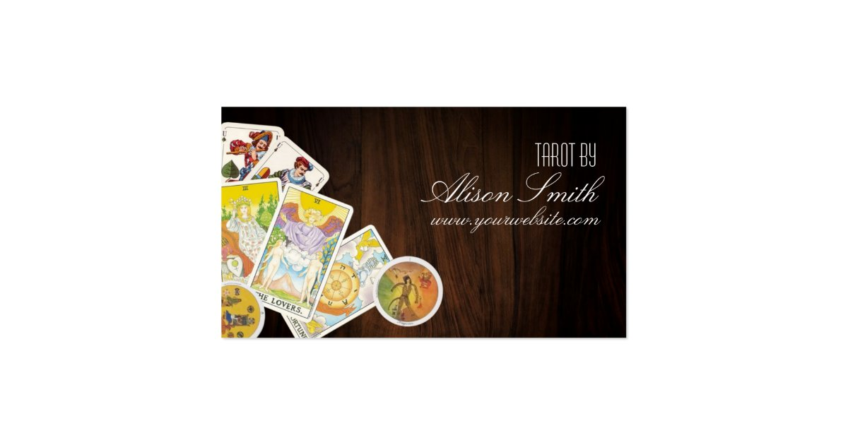 Tarot business cards zazzle for Where can i use my synchrony home design card