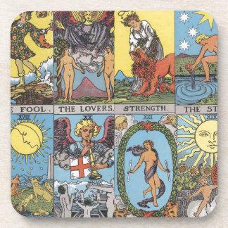 Tarot Card Collage Coaster