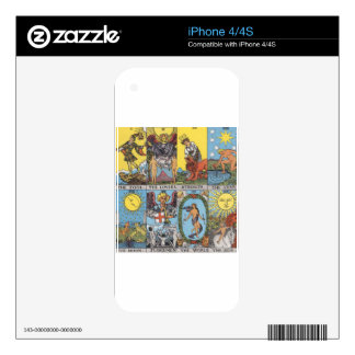 Tarot Card Collage Skins For The iPhone 4