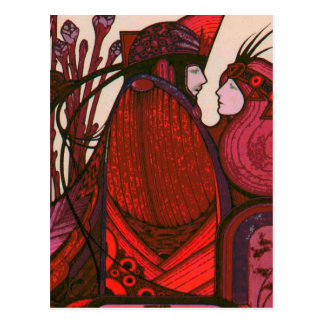 TAROT CARD DESIGN THE LOVERS POSTCARD