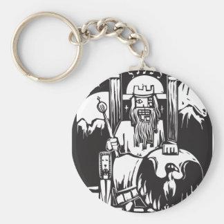 Tarot Card Emperor Basic Round Button Keychain