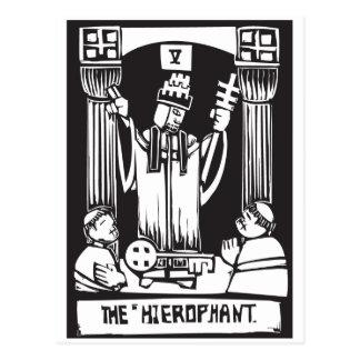 Tarot Card Hierophant Postcard