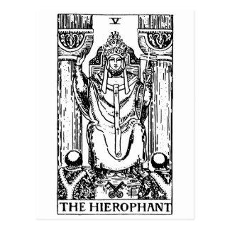 Tarot card 'hierophant' postcard