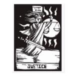Tarot Card Justice Postcard