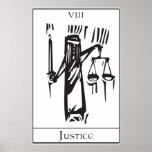 Tarot Card Justice Poster