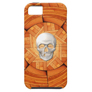 Tarot Card of Death - Wood with 3D Skull Inlay iPhone 5 Cover