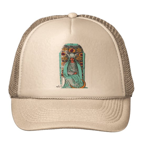 TAROT CARD THE HIGH PRIESTESS BY LIZ LOZ TRUCKER HAT