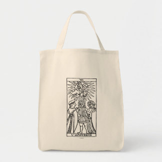Tarot Card: The Lovers Grocery Tote Bag