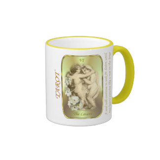 Tarot Card - The Lovers Ringer Mug