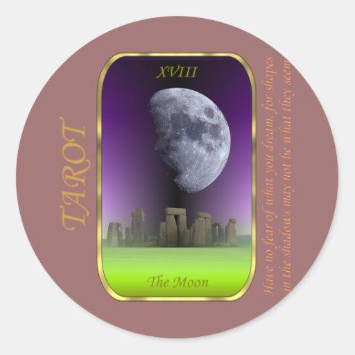 Tarot Card - The Moon Classic Round Sticker