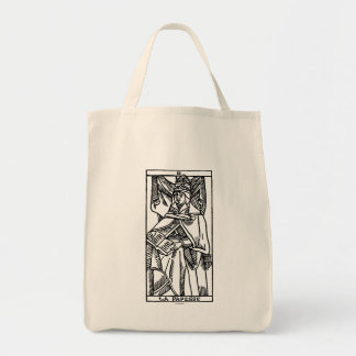 Tarot Card: The Popess Grocery Tote Bag