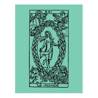Tarot Card: The World Postcard