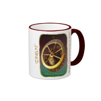 Tarot Card - Wheel of Fortune Ringer Coffee Mug