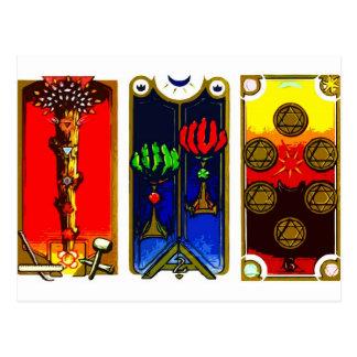 TAROT CARDS BY LIZ LOZ POSTCARD