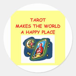 tarot cards classic round sticker
