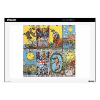 """Tarot Cards Collage 17"""" Laptop Skin"""