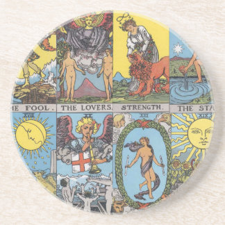 Tarot Cards Collage Drink Coaster