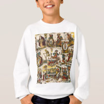 Tarot cards pattern sweatshirt