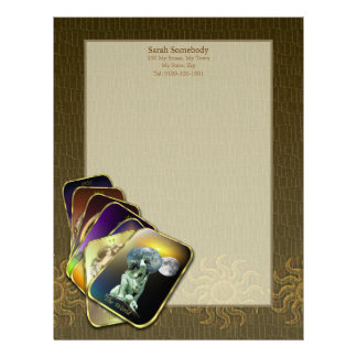 Tarot Cards Personal Stationery (lighter)