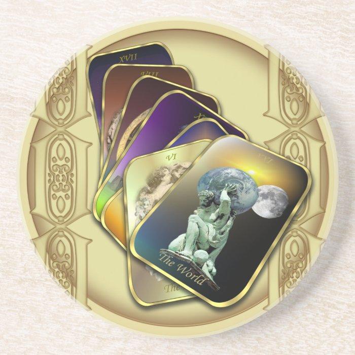 Tarot Cards Sandstone Coaster