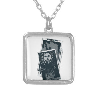 Tarot Cards Silver Plated Necklace