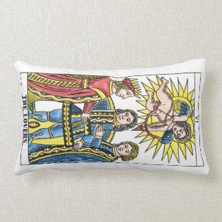 Tarot Cards The Lovers The Sun Lumbar Pillow