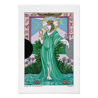 Tarot de la impresión de la emperatriz de Sephirot Póster
