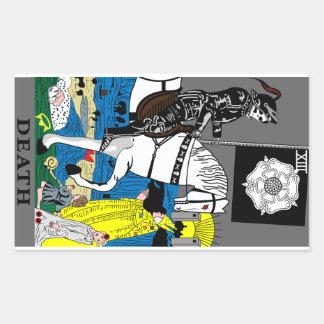 Tarot Death Card Rectangular Sticker