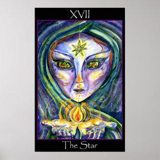 Tarot del Sidhe- la estrella Póster