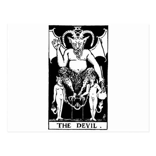 Tarot 'devil' postcard