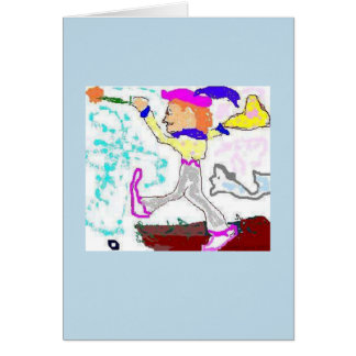Tarot Fool Greeting (periwinkle background) Cards