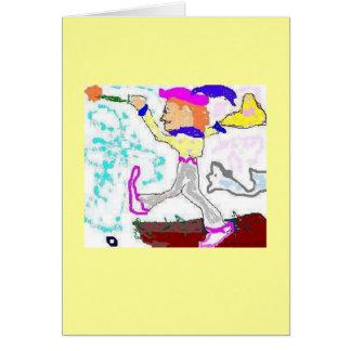 Tarot Fool Greeting (yellow background) Card