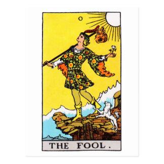 tarot-fool postcard