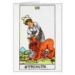 tarot-fuerza tarjeta de felicitación