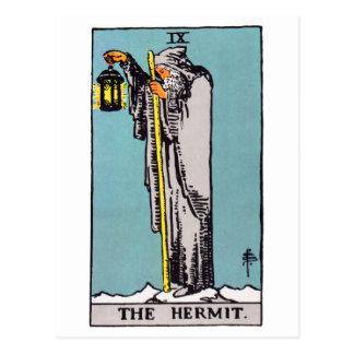tarot-hermit postcard