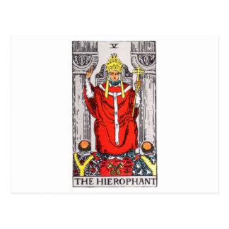 tarot-hierophant postcard