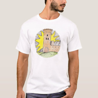 Tarot inspired t-shirt depicting 'The Castle'