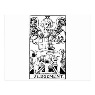 Tarot 'judgment' postcard