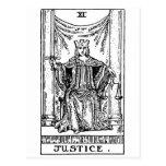 Tarot 'justice' postcard