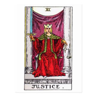 tarot-justice postcard