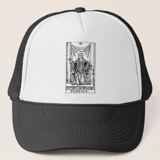 Tarot 'justice' trucker hat