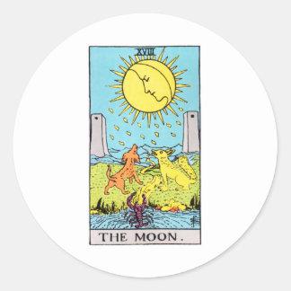 tarot-luna pegatina redonda