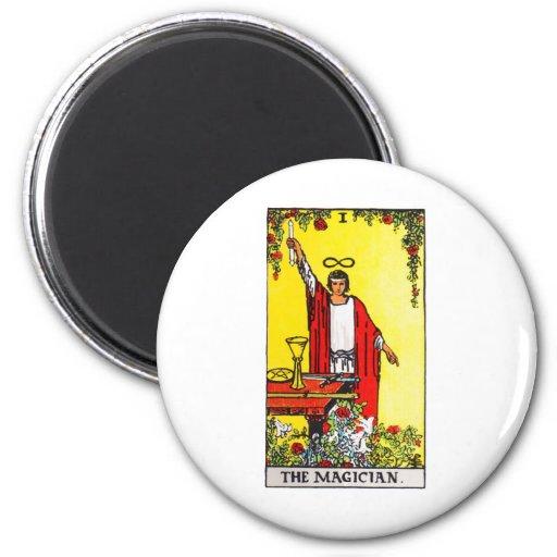 tarot-magician fridge magnet