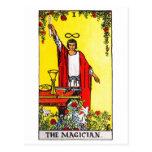 tarot-magician postcard