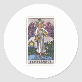 Tarot moderateness Temperance Classic Round Sticker