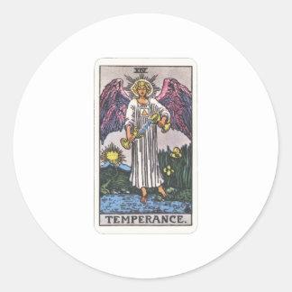 Tarot moderateness Temperance Round Stickers